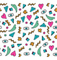 white doodle seamless pattern vector image