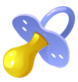 Blue pacifier vector image
