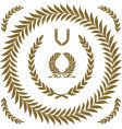 gold wreath set vector image