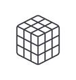 rubik cube line icon sign o vector image