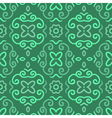Abstract seamless pattern with vintage green vector image