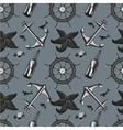 Marin seamless pattern with anchor and whell vector image