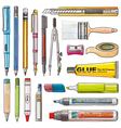 Office Supplies isolate background vector image