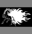 a running horse silhouette vector image