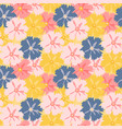 abstract hand drawn flower seamless pattern vector image vector image