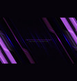 abstract violet line cyber circuit slash on black vector image vector image