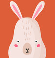 adorable hare snout flat cute vector image