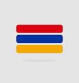 Armenia flag state symbol stylized geometric vector image vector image