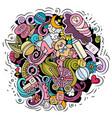 baby cartoon doodle funny children vector image vector image