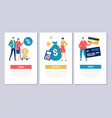 bank operations - flat design style conceptual web vector image