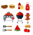 barbeque icons vector image