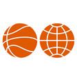 basketball and globe vector image