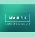 beautiful marine blue green blurry background vector image vector image