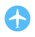 Blue and white flat simple plane icon vector image vector image