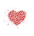 broken heart small pieces particles abstract vector image vector image