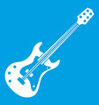 classical electric guitar icon white vector image vector image