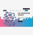 co working coworking space desktop landing page vector image vector image