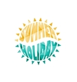 colored summer holiday text vector image vector image