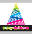 colorful merry christmas design vector image vector image