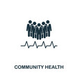 community health icon creative element design vector image