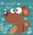 cute bear - cute cartoon vector image vector image