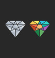 diamond logo design icon vector image vector image