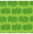 doodle of artichoke seamless pattern vector image