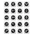 Dotted arrows round icons set isolated on white vector image vector image