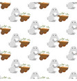 easter bunny with carrots seamless pattern vector image vector image
