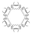 elegant victorian with hexagonal shape frame vector image vector image