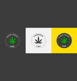 emblem cannabis sativa and indica cannabis on vector image vector image