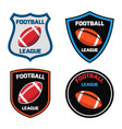 emblem design with american football ball icon vector image vector image
