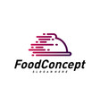 fast food logo concept cooking logo design vector image vector image