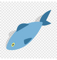 fish isometric icon vector image vector image