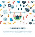 fitness background sport concept vector image vector image