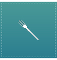 fork flat icon vector image vector image