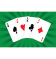 Four aces vector | Price: 1 Credit (USD $1)