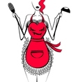 funny apron vector image vector image