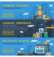 Garbage Recycling Horizontal Banners Set vector image vector image