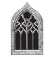 gothic architecture st margarets chapel tracery vector image vector image