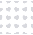 Gray hearts seamless bakground pattern vector image vector image