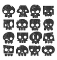 Grunge Skull Stamps Icons vector image vector image