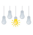 grunge with hanging light bulbs and vector image vector image