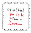 handwritten lettering valentines day card or vector image vector image