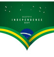 happy brazil independence day template design vector image
