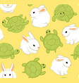 hare and tortoise vector image vector image