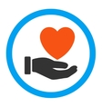 Heart Charity Rounded Icon vector image vector image