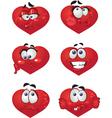 Heart smiles vector image