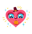 heart with pumpkin vector image