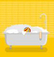 hotel bathroom icon flat style vector image vector image